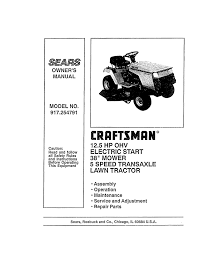 craftsman 917 254791 owner s manual