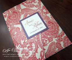 Ruby Anniversary Invitation Cards Paisley Wedding Invitation U2013 A Vibrant Wedding