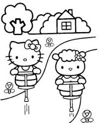 lovely sleeping kitty coloring cute pages