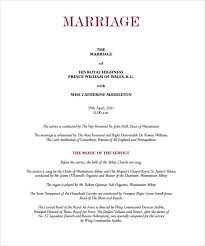 Examples Of Wedding Reception Programs Wedding Reception Sample Finding Wedding Ideas