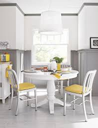 dining room dining table painted with white color for small