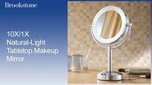 Makeup Vanity With Lights 10x 1x Natural Light Tabletop Makeup Mirror Youtube