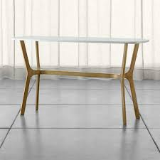 Z Oak Console Table Sofa And Console Tables Crate And Barrel