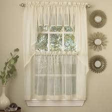 Crushed Sheer Voile Curtains by Gypsy Crushed Voile Ruffle Kitchen Window Curtain 24