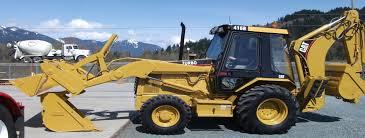 adams excavating excavators rubber tire backhoe tandem dump