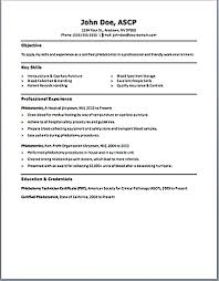 Technician Resume Sample by Phlebotomy Technician Resume Resume For Your Job Application
