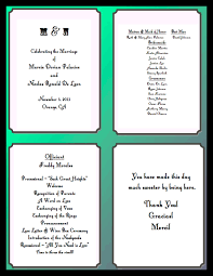 what goes on a wedding program the cucumber what to write on your ceremony programs