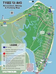 University Of Tennessee Parking Map by Tybee Island Recreation Biking And Parking Map Maplets