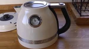 Kitchenaid Kettle And Toaster Kitchenaid Artisan Kettle Almond Cream Youtube
