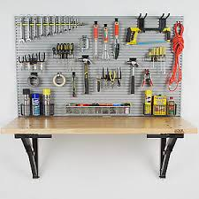 Tool Bench For Garage Workbench U0026 Idealwall Kit Bench Solution