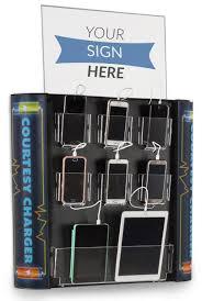 multi device charging kiosk lockable wall station