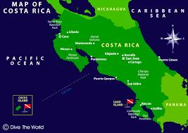 san jose costa rica on map map of costa rica san jose punterenas cocos island dive the world