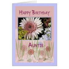 auntie greeting cards zazzle