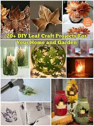 Garden Diy Crafts - diy leaf craft projects for your home and garden