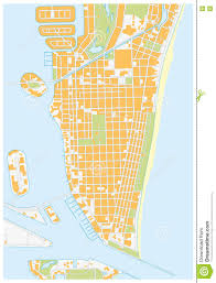 Florida Map Of Beaches by Miami Beach Street Map Florida Stock Illustration Image 72309877
