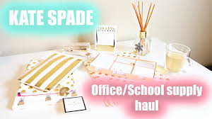 Girly Desk Accessories by Kate Spade School Office Supplies Haul Leanna Amiree Youtube