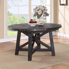 Extension Tables Dining Room Furniture Modus Yosemite Solid Wood Round Extension Table Cafe Hayneedle