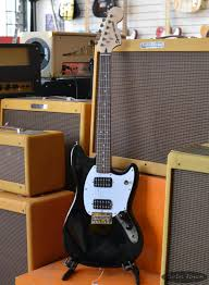 squire mustang squier bullet mustang hh black electric guitar