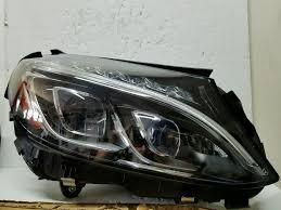 mercedes s class headlights mercedes benz c class w205 right led headlight 15 16 17 oem ebay