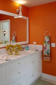 orange bathroom decorating ideas orange bathroom vanity design ideas