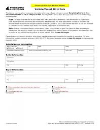 Vehicle Bill Of Sale Form by Free Washington Vehicle Vessel Bill Of Sale Form Download Pdf