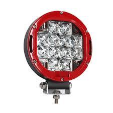 led driving lights automotive waterproof 60w led driving light red round off road driving light