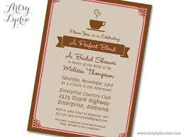 bridal shower invitations bridal shower invitations coffee theme