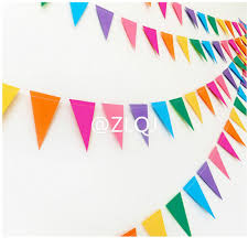 Wedding Flag Online Shop Zljq 4m Colorful Triangle Flag Wedding Decoration 2017