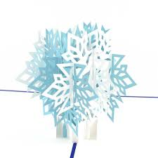 3d snowflake pop up christmas card lovepop