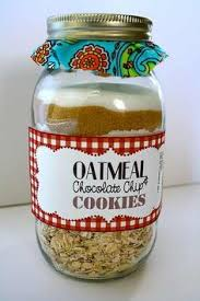 gifts in a jar santas cookies christmas food pinterest gift