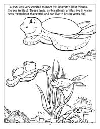 coloring page sea ocean animals underwater pages scene dinosaurs