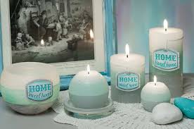 home sweet home decorative candle and tea light holder