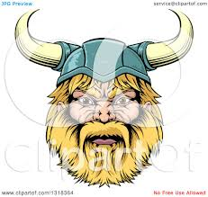 clipart of a cartoon tough blond male viking warrior head with a