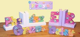personalized bookends baby hometime crafts
