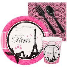 Eiffel Tower Party Decorations Paris Damask Thank You Notes 8 Birthdayexpress Com