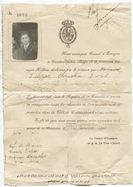 greece turkey constantinople spain consulate document for a greek