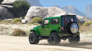 jeep unlimited green jeep wrangler unlimited 3 door jk 2013 add on tuning gta5