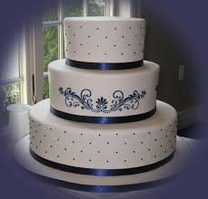 blue silver and white wedding cakes melitafiore