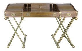 Chinoiserie Secretary Desk by Vintage Drexel Campaign Rolltop Desk Chairish