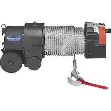 ramsey 12 volt dc powered electric front mount truck winch u2014 8000