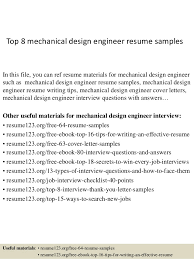 Best Engineering Resume Samples by Top 8 Mechanical Design Engineer Resume Samples 1 638 Jpg Cb U003d1427960142