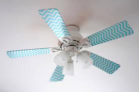 fancy fans blue and pink chevron fancy blade