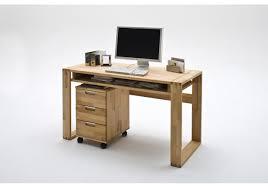 Moderner Schreibtisch Schreibtisch Mit Rollcontainer Kernbuche Massiv Woody 41 02164