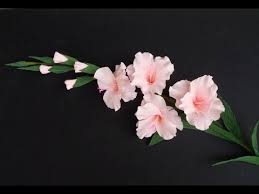 gladiolus flower how to make gladiolus flower from crepe paper craft tutorial