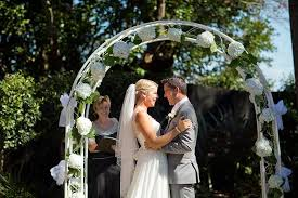 wedding arches perth yellow garden wedding