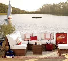 Pottery Barn Where I Live Designing Outdoor Living Room W Palmetto Sectional By Pottery Barn