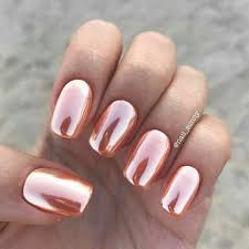 rose gold summer nail art shiny metallic stunning nail lacquer