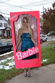 Barbie Ken Halloween Costume Coolest Homemade Barbie Box Halloween Costume