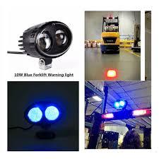 blue warning lights on forklifts 2 pieces forklift safety light 12v 10w led off road blue safety