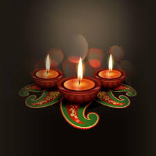 digital art decorated diyas with the flame of diwali by hamid